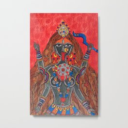 Kaali-The Fierce Form Metal Print