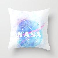 nasa Throw Pillows featuring NASA by avoid peril