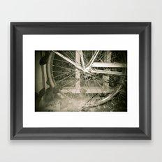 Sepia Bike Framed Art Print