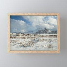 The Land of snow Framed Mini Art Print