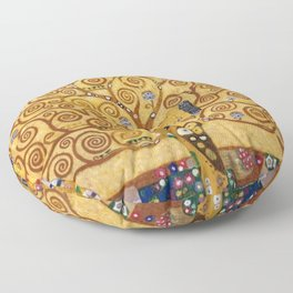 Gustav Klimt The Tree Of Life Floor Pillow
