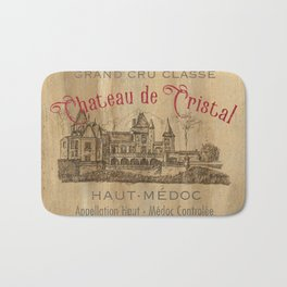 Barrel Wine Label 1 Bath Mat