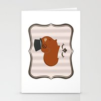 guinea pig Stationery Cards featuring Mr Guinea Pig by Jo Sharp