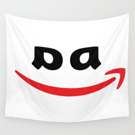 Corporate Evil - Black, No Ears Wall Tapestry