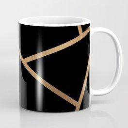 Black and Gold Fragments - Geometric Design Coffee Mug