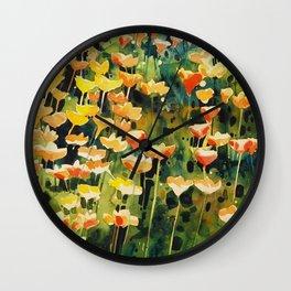California Popies Wall Clock