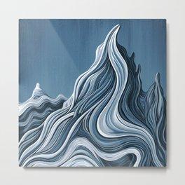 'Mountain Flow' Metal Print