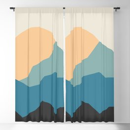 Mountains print.  landscape prints. Original illustration. Printed on archival paper with archival i Blackout Curtain
