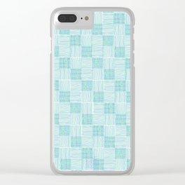 Interpretive Weaving (Seaglass) Clear iPhone Case