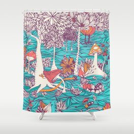 Mushrooms Forest Shower Curtain