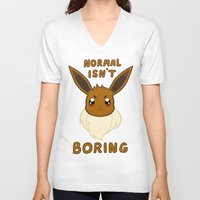 eevee V-neck T-shirts featuring normal eevee by deerboywonder