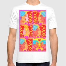Forms of Love Quilt Mens Fitted Tee White MEDIUM