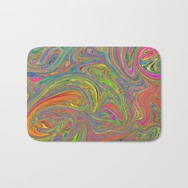 Abstract Art Digital Painting Colorful Gift Bath Mat