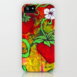 Strawberry Patch iPhone Case