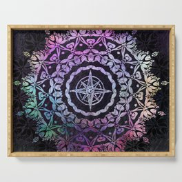 Dark Destination Mandala Serving Tray