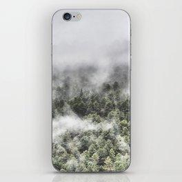 """Mountain light III"". Foggy forest. iPhone Skin"