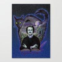 edgar allen poe Canvas Prints featuring Edgar Allan Poe Gothic by Scott Jackson Monsterman Graphic