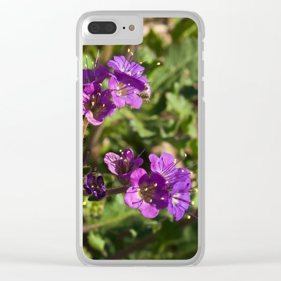 Notch-Leaved Phacelia - Desert Wildflower Clear iPhone Case