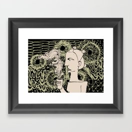 Cafe Drawing Framed Art Print