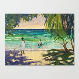 Coming Home with Dinner Canvas Print