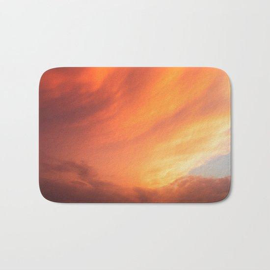 Celestial Fire Clouds Bath Mat