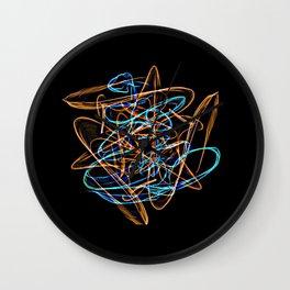 Silkweave / Neon Sigil 0 Wall Clock