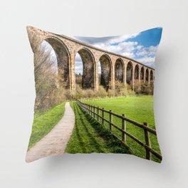 Cefn Viaduct Throw Pillow