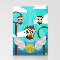 quidditch Stationery Cards featuring QUIDDITCH by Chris Thompson, ThompsonArts.com