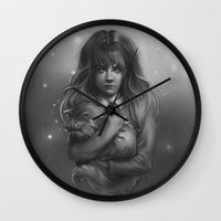 hermione Wall Clocks featuring Hermione by AlchemyArt