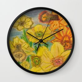 Daffies Wall Clock