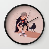 haikyuu Wall Clocks featuring A little chat with myself by x3uu