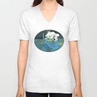 bmo V-neck T-shirts featuring BMO by RbMachado