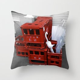 red crates Throw Pillow