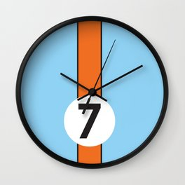 Gulf Racing Ford GT40 Le Mans 24 Hours Wall Clock