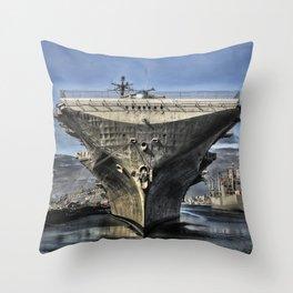 USS Hornet Throw Pillow