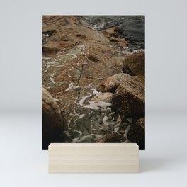 rocky ocean coast Mini Art Print