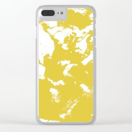 Suminagashi 2 gold marble spilled ink ocean swirl watercolor painting marbled pattern Clear iPhone Case