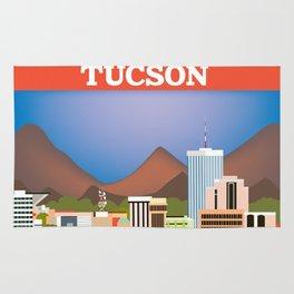 Tucson, Arizona - Skyline Illustration by Loose Petals Rug