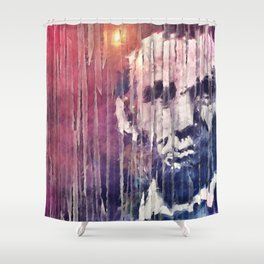 President Abraham Lincoln Abstract Shower Curtain