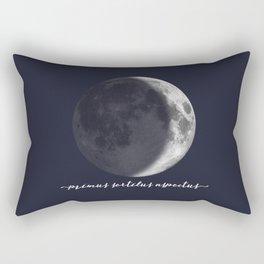 Waxing Crescent Moon on Navy Latin Rectangular Pillow