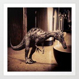 Thirsty Dino Art Print
