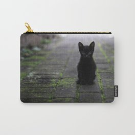 Eyes Only For You Black Kitten Photographic Print Carry-All Pouch