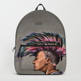 RGD Punk Rock Girl Portrait   Nikki the Bee Backpack