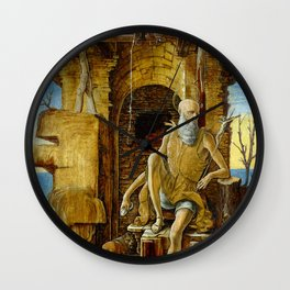 Ercole de'Roberti Saint Jerome in the Desert Wall Clock