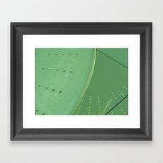 Green Reflection Framed Art Print