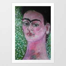 Portrait of Frida Art Print