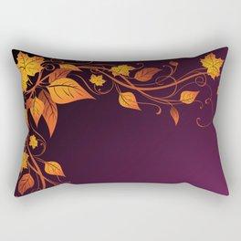 Maroon Autumn Leaves Rectangular Pillow