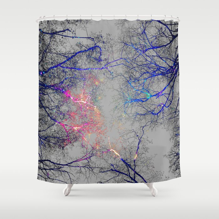 Led Strip Lights Shower Curtain