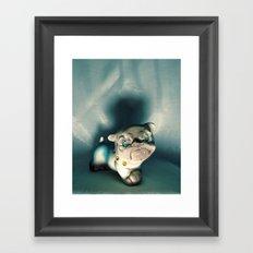 Demon Bulldog With Plastic Gemstone Eyes Framed Art Print