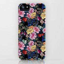 stylish winter flowers bouquets illustration iPhone Case